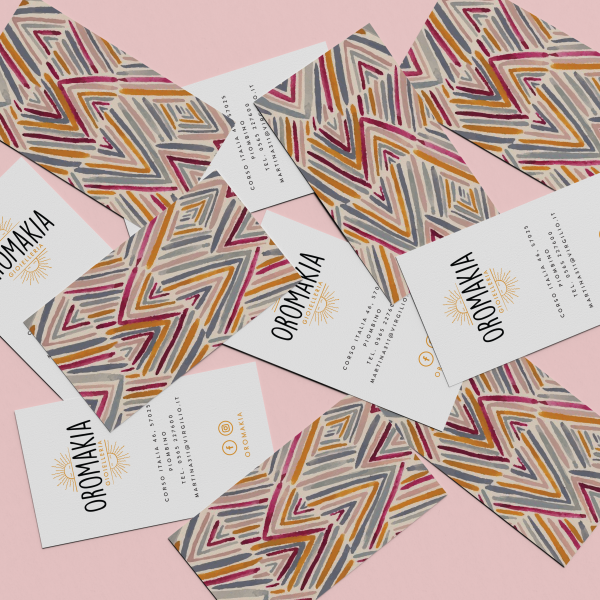business card oromakia gioielleria