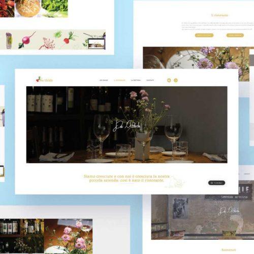 Web Design per Ristorante Da Alcide